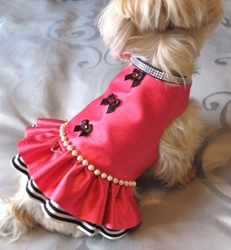 Vie En Rose Harness Dress Roxy & Lulu, wooflink, susan lanci, dog clothes, small dog clothes, urban pup, pooch outfitters, dogo, hip doggie, doggie design, small dog dress, pet clotes, dog boutique. pet boutique, bloomingtails dog boutique, dog raincoat, dog rain coat, pet raincoat, dog shampoo, pet shampoo, dog bathrobe, pet bathrobe, dog carrier, small dog carrier, doggie couture, pet couture, dog football, dog toys, pet toys, dog clothes sale, pet clothes sale, shop local, pet store, dog store, dog chews, pet chews, worthy dog, dog bandana, pet bandana, dog halloween, pet halloween, dog holiday, pet holiday, dog teepee, custom dog clothes, pet pjs, dog pjs, pet pajamas, dog pajamas,dog sweater, pet sweater, dog hat, fabdog, fab dog, dog puffer coat, dog winter ja