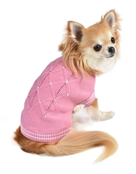 V. I. Pink Sweater by Oscar Newman Roxy & Lulu, wooflink, susan lanci, dog clothes, small dog clothes, urban pup, pooch outfitters, dogo, hip doggie, doggie design, small dog dress, pet clotes, dog boutique. pet boutique, bloomingtails dog boutique, dog raincoat, dog rain coat, pet raincoat, dog shampoo, pet shampoo, dog bathrobe, pet bathrobe, dog carrier, small dog carrier, doggie couture, pet couture, dog football, dog toys, pet toys, dog clothes sale, pet clothes sale, shop local, pet store, dog store, dog chews, pet chews, worthy dog, dog bandana, pet bandana, dog halloween, pet halloween, dog holiday, pet holiday, dog teepee, custom dog clothes, pet pjs, dog pjs, pet pajamas, dog pajamas,dog sweater, pet sweater, dog hat, fabdog, fab dog, dog puffer coat, dog winter ja