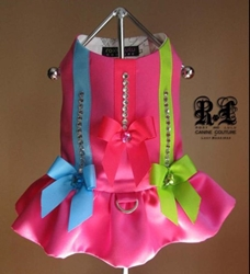 Pink Voltage Couture Harness Dress Roxy & Lulu, wooflink, susan lanci, dog clothes, small dog clothes, urban pup, pooch outfitters, dogo, hip doggie, doggie design, small dog dress, pet clotes, dog boutique. pet boutique, bloomingtails dog boutique, dog raincoat, dog rain coat, pet raincoat, dog shampoo, pet shampoo, dog bathrobe, pet bathrobe, dog carrier, small dog carrier, doggie couture, pet couture, dog football, dog toys, pet toys, dog clothes sale, pet clothes sale, shop local, pet store, dog store, dog chews, pet chews, worthy dog, dog bandana, pet bandana, dog halloween, pet halloween, dog holiday, pet holiday, dog teepee, custom dog clothes, pet pjs, dog pjs, pet pajamas, dog pajamas,dog sweater, pet sweater, dog hat, fabdog, fab dog, dog puffer coat, dog winter ja