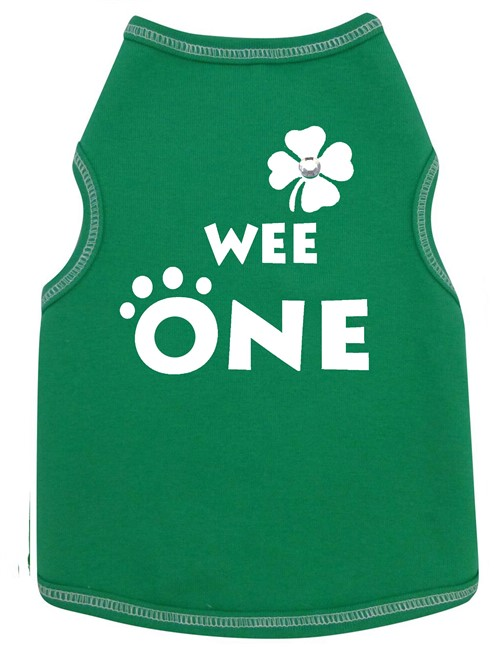 Wee One Dog Tank - Green - iss-weeone-tank